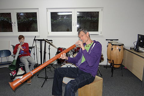Didgeridoo-Workshop am Kurpfalz Internat